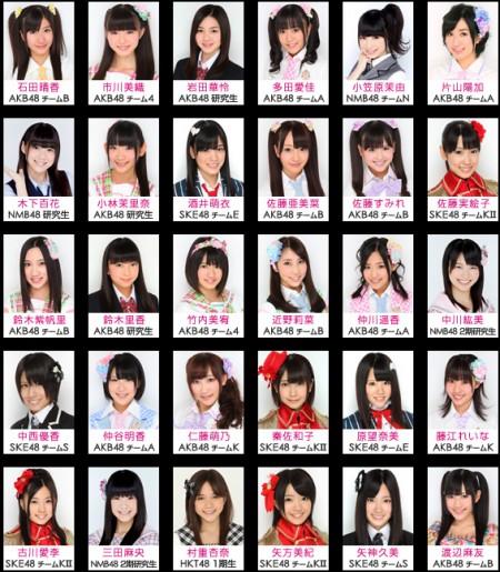 """Eligen a las 30 voces finalistas para anime """"AKB0048″ y tarjetas ..."""
