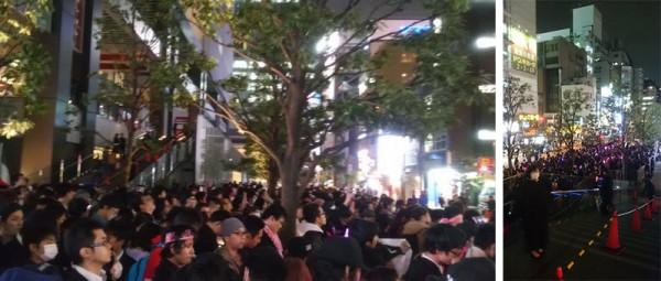 """Takahashi agradeció a los cientos de wotas que no pudieron entrar al evento a las afueras del edificio comercial """"Don Quixote""""."""