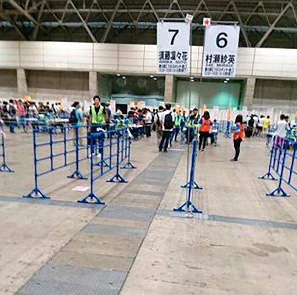Carril de Ririka Suto en el evento handshake en Makuhari Messe.