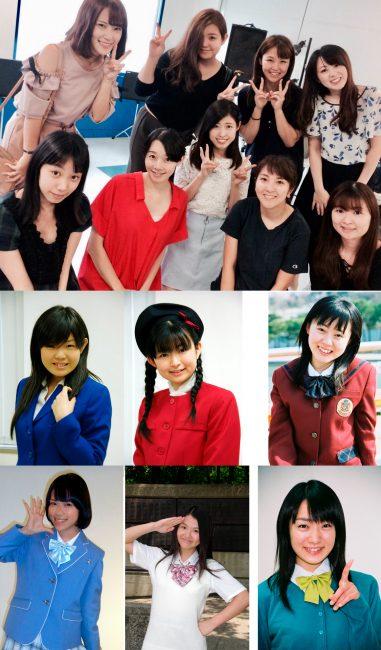 Integrantes OG de Seifuku Koujou iinkai que participaron en el concierto de 25 aniversario