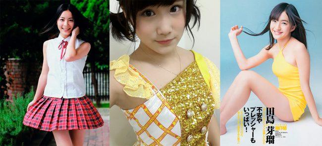 Jurina Matsui (SKE48), Eriko Jo (NMB48) y Meru Tashima (HKT48)