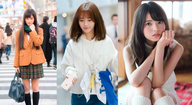 Kiku chan, Yun (SNH48) y Asuka Saito (Nogizaka 46).